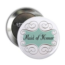 "Beautiful Maid Of Honor 2.25"" Button"