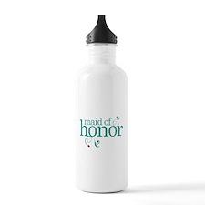 Maid Of Honor Wedding Swirl Water Bottle