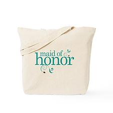 Maid Of Honor Wedding Swirl Tote Bag