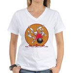 Bowling Women's V-Neck T-Shirt