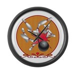 Bowling Large Wall Clock