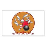 Bowling Sticker (Rectangle 10 pk)