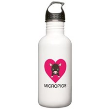 Love Micropigs Water Bottle