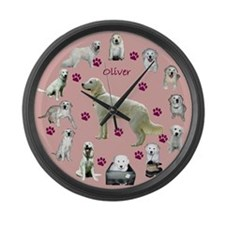 Cute Oliver Large Wall Clock