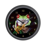 &quot;Red-Eyed Frog&quot; Wall Clock