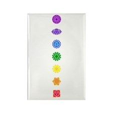 The Chakras Rectangle Magnet