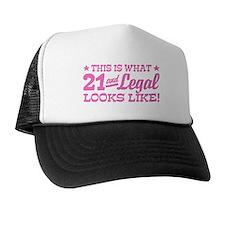 Funny 21st Birthday Trucker Hat