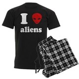 I Love Aliens pajamas