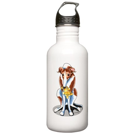 Red White Greyhound Stainless Water Bottle 1.0L
