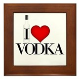 I Heart Vodka Framed Tile