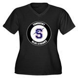 Sandusky Women's Plus Size V-Neck Dark T-Shirt