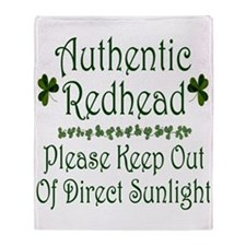 Authentic Redhead Throw Blanket