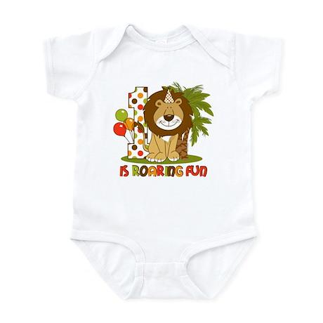 Cute Lion 1st Birthday Infant Bodysuit