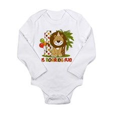 Cute Lion 1st Birthday Long Sleeve Infant Bodysuit