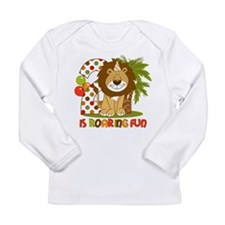 Cute Lion 2nd Birthday Long Sleeve Infant T-Shirt