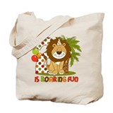 Cute Lion 2nd Birthday Tote Bag