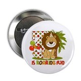 Cute Lion 3rd Birthday 2.25&quot; Button