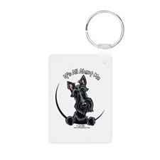 Black Scottie IAAM Keychains