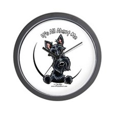 Black Scottie IAAM Wall Clock
