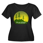 Sunset Lodges Women's Plus Size Dark T-Shirt