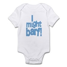 I Might Barf Blue Infant Bodysuit