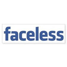 Faceless Car Sticker