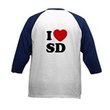 Two Sided I Heart SD Tee Shirt