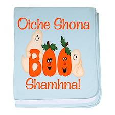 Gaelic Halloween Boo! baby blanket