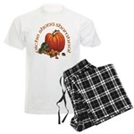 Gaelic Pumpkin Scene Men's Light Pajamas