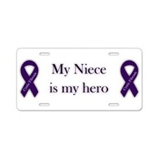 Niece CF Hero Aluminum License Plate