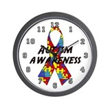 &quot;Autism Awareness&quot; Wall Clock