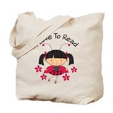 I Love To Read Ladybug Tote Bag