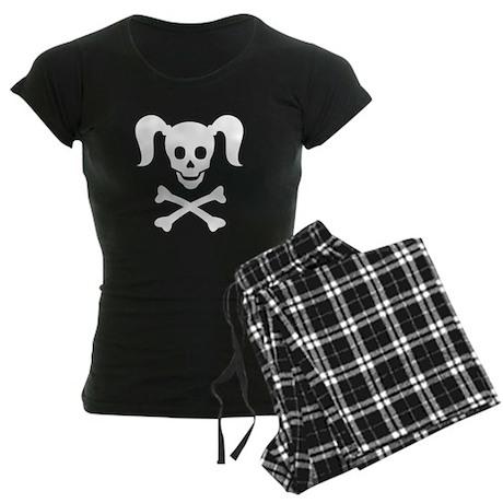 Curly Girlie Skull Women's Dark Pajamas