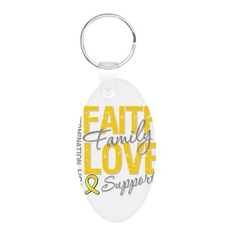 COPD Faith Love Aluminum Oval Keychain
