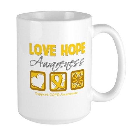 COPD Love Hope Large Mug