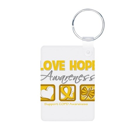 COPD Love Hope Aluminum Photo Keychain