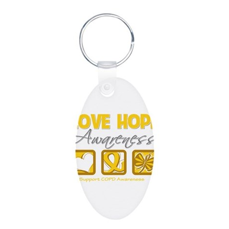 COPD Love Hope Aluminum Oval Keychain
