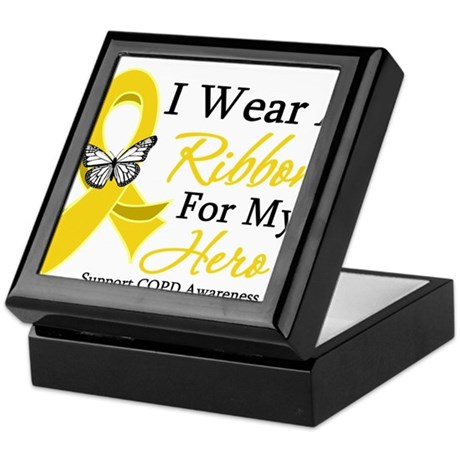 COPD Ribbon Hero Keepsake Box