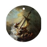 Storm on the Sea of Galilee Ornament (Round)
