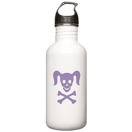 Curly Girlie Skull Stainless Water Bottle 1.0L