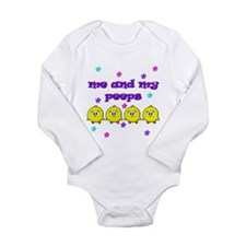 NME AND MY PEEPS - L PURPLE Long Sleeve Infant Bod