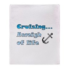 Aweigh of Life Throw Blanket