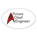 Future Chief Engineer Sticker (Oval 10 pk)