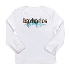 Barbados Grunge Long Sleeve Infant T-Shirt