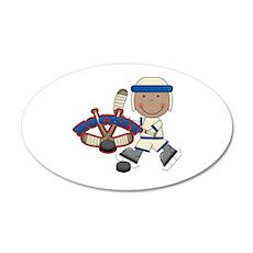 AA Boy Hockey Player 38.5 x 24.5 Oval Wall Peel