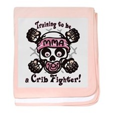MMA Crib Fighter baby blanket