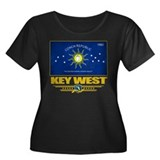 Key West Pride Women's Plus Size Scoop Neck Dark T