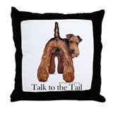 Airedale Talk to the Tail Throw Pillow