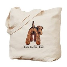 Airedale Talk to the Tail Tote Bag