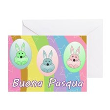 Easter Bunnies - italian Greeting Card